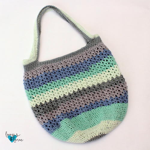 Speedy V-Stitch Market Bag
