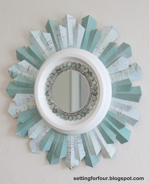 Beaded Winter Sunburst Mirror