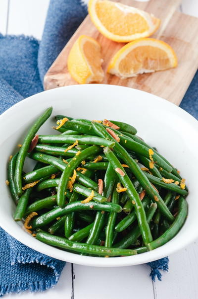 Blue Lake Green Beans Recipe With Orange & Almonds