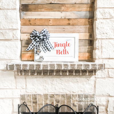 Repurposed Cabinet Door Jingle Bell Sign