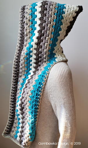 Winter's Coming Hooded Scarf