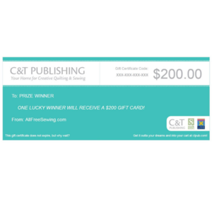 C&T Publishing $200 Gift Card Giveaway