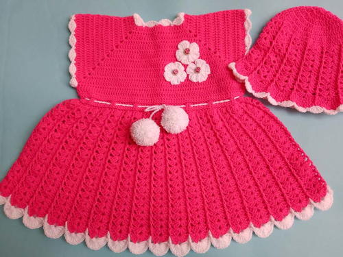 Crocheted Sleeveless Baby Dress