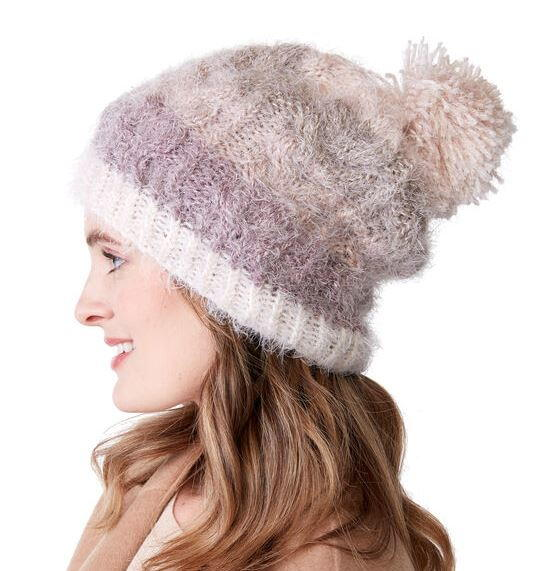 Lucky Horseshoe Cable Knit Hat