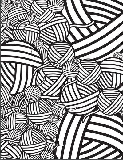 Mesmerizing Yarn Coloring Page