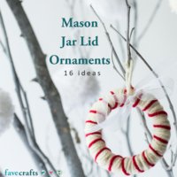 16 Mason Jar Lid Ornaments