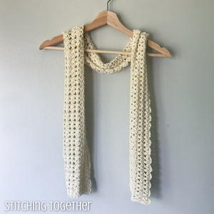 Seashore Shell Stitch Scarf