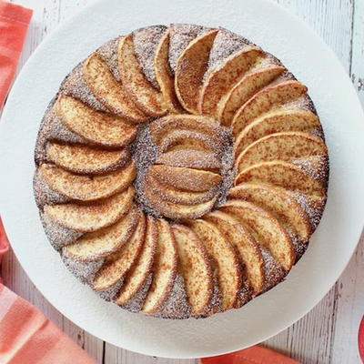 Healthy Apple Cake Paleo Low Carb  Sugar Free