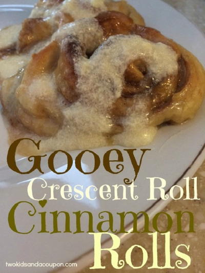 Gooey Crescent Roll Cinnamon Rolls Recipe
