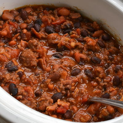 Easy Slow Cooker Cowboy Beans