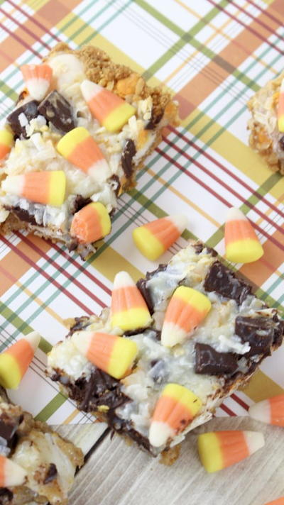 Candy Corn Cookie Bars Recipe