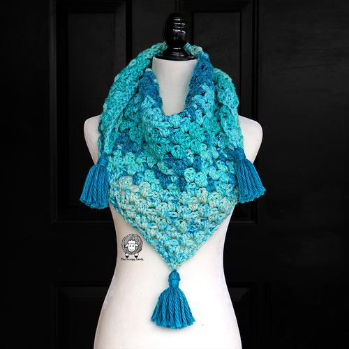 Once in a Blue Moon Triangle Scarf/Shawl