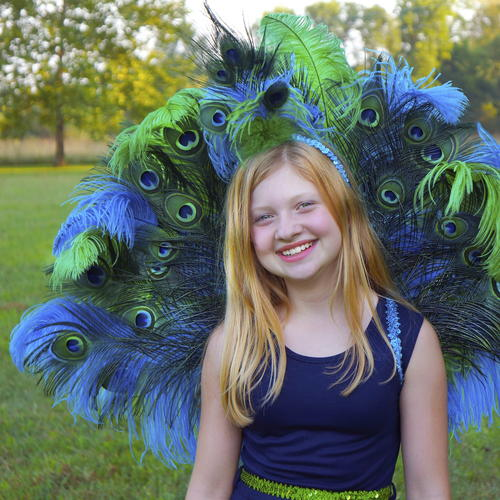 Just Beautiful Peacock Halloween Costume DIY