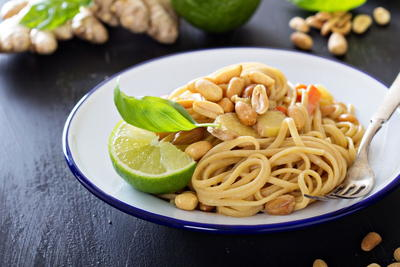 Lime Peanut Sauce with Pasta
