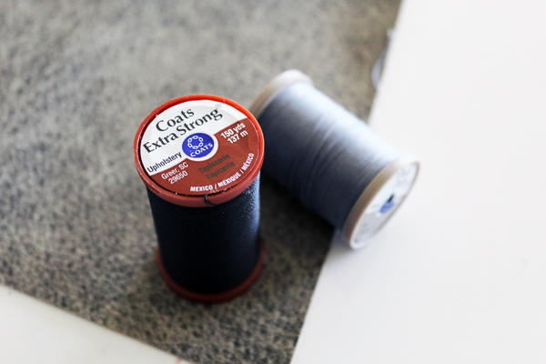 Example of heavy duty sewing thread to use for sewing vinyl.