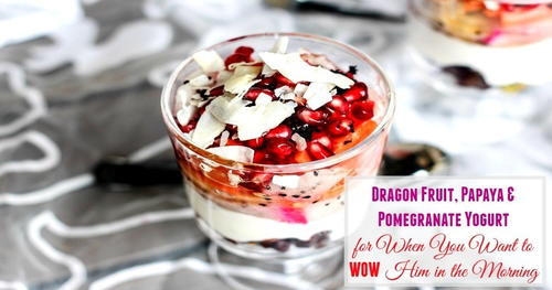 Dragon Fruit, Papaya & Pomegranate Yogurt