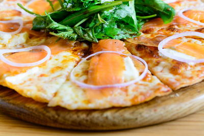 Smoked Salmon Pizza with Honey