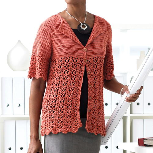 Breezy Bamboo Crochet Cardigan Pattern