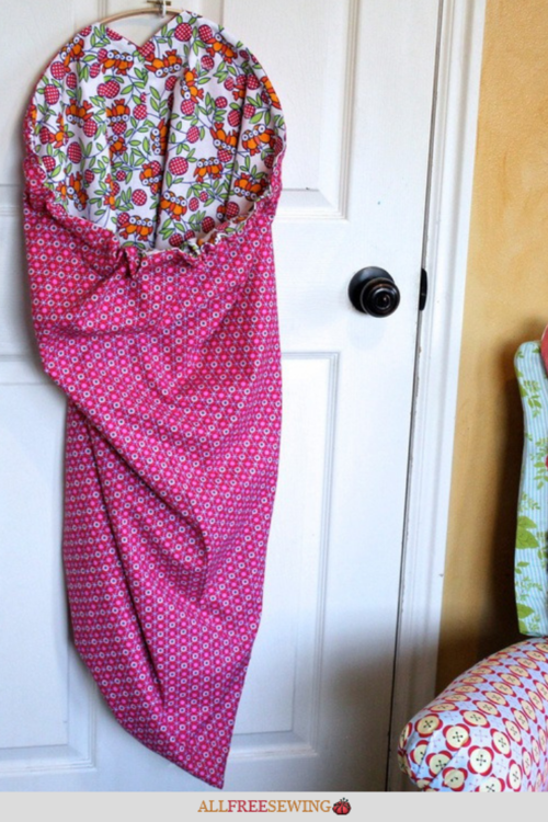 DIY Hanging Laundry Bag Reversible