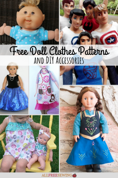 46 Free Doll Clothes Patterns and DIY Accessories