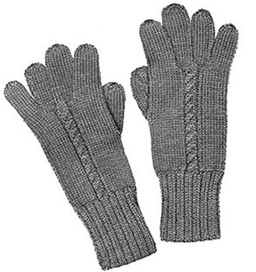 Knit Gloves Pattern on Straight Needles