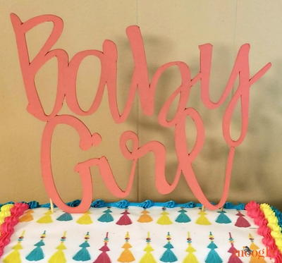 DIY Baby Shower Cake Topper