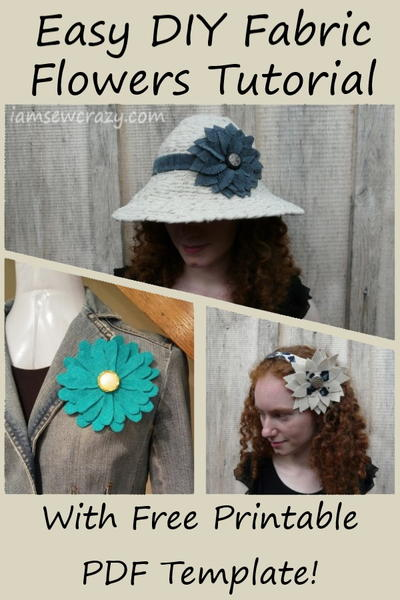Layered Fabric Flowers Tutorial