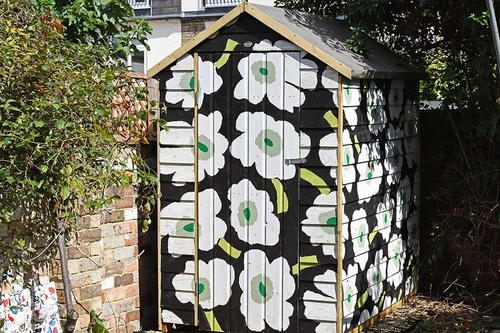 How to Paint a Designer Patterned Shed
