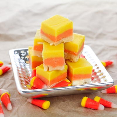 Easy 4-Ingredient Candy Corn Fudge