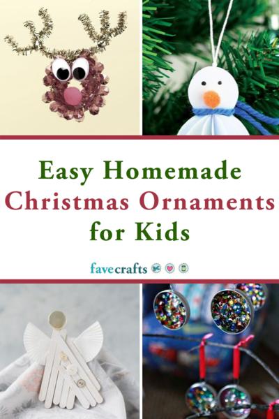 Easy Homemade Christmas Ornaments for Kids