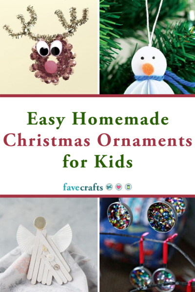 Easy Homemade Christmas Ornaments for Kids