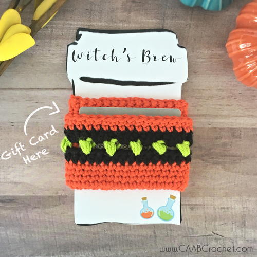 Halloween Gift Card Cup Cozy