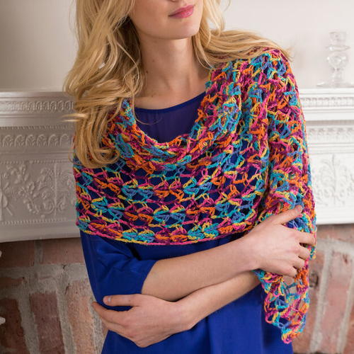 Neon Light Crochet Shawl