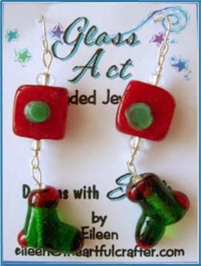 Beaded Christmas Earrings