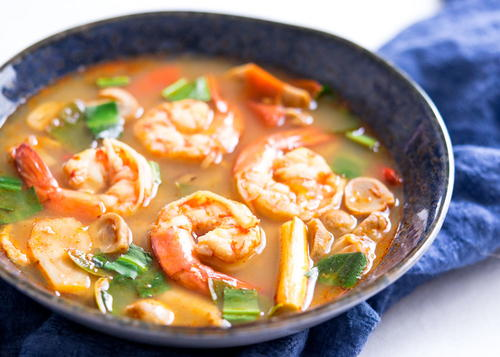 Tom Yum Goong (Thai Hot & Sour Shrimp Soup)