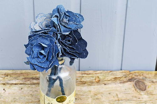 Gorgeous Upcycled Denim Flowers