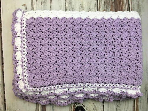 Lilac Meadows Baby Blanket