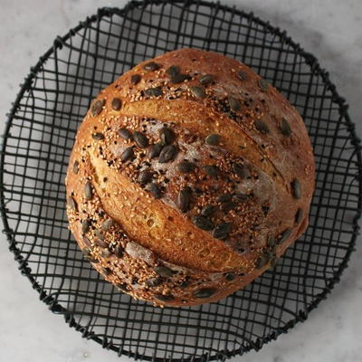 Pumpkin No Knead Bread