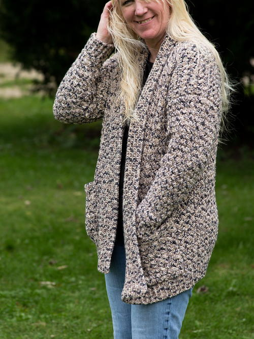 Comfy Casual Crocheted Cotton Cardigan