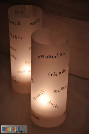 Vellum Luminaries Thankfulness Craft