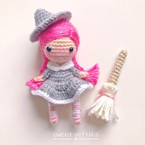 Whimsy the Halloween Witch Amigurumi Girl Doll