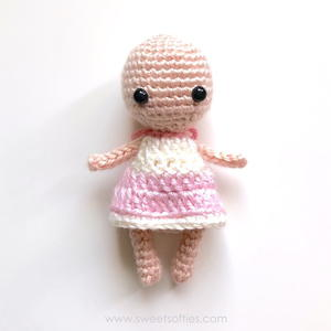 Basic Dress for Baby Bean Amigurumi Doll
