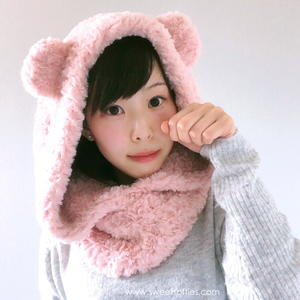 Fluffy Hooded Bear Cowl