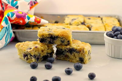 Healthy  Light Blueberry Cornbread