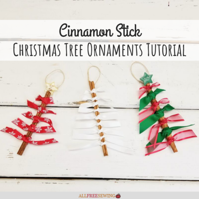Cinnamon Stick Christmas Tree Ornaments Tutorial