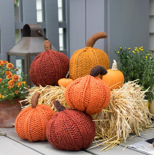 Large Pumpkin Knitting Pattern