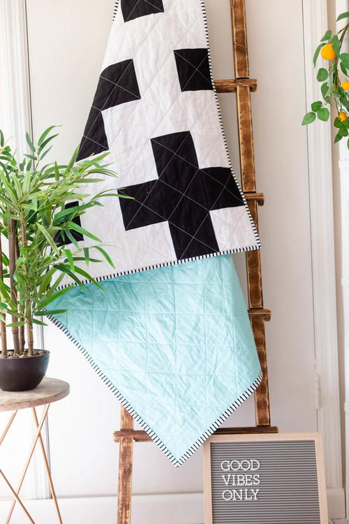 Modern Swiss Cross Quilt Pattern