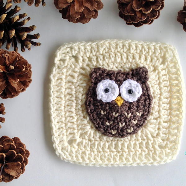 Woodland Owl Granny Square Pattern