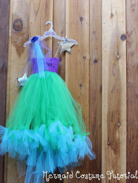 No Sew Tulle Dreams Mermaid Costume