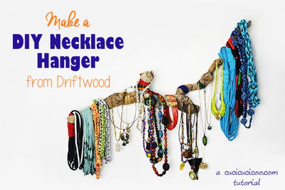 DIY Necklace Hanger with Driftwood